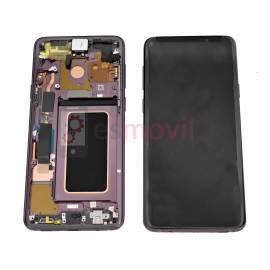 Samsung Galaxy S9 Plus G965f Lcd + tactil + marco purpura GH97-21691B Service Pack