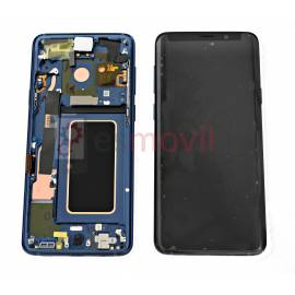Samsung Galaxy S9 Plus G965f Lcd + tactile + châssis bleu GH97-21691D Service Pack