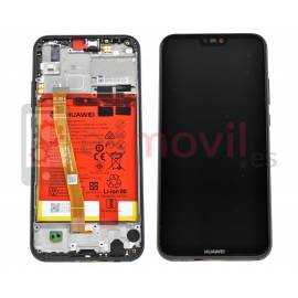Huawei P20 Lite 2018 / Nova 3e Lcd + touch + frame preto ( inclui bateria ) Service Pack ( 02351VPR / 02351XTe )