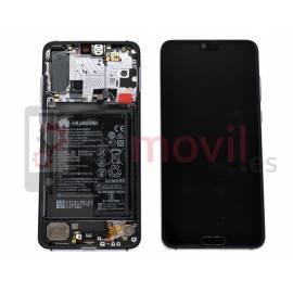 Huawei P20 Pro Lcd + tactil + marco púrpura original (incluye bateria) Service Pack ( 02351WTP )