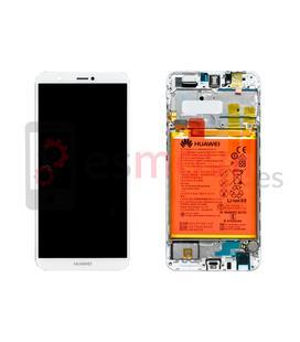 Huawei P Smart Display + touch + frame branco original ( inclui bateria ) Service Pack ( 02351SVE )