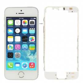 Apple iPhone 5S / SE Marco intermedio blanco con tiras adhesivas