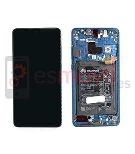 Huawei Mate 20 Display replacement with frame blue ( incluye battery ) Service Pack ( 02352FQM )