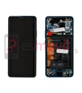 Huawei Mate 20 Pro Display + touch + frame azul original ( inclui bateria ) Service Pack ( 02352GFX )