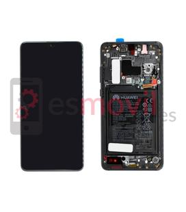 Huawei Mate 20 Display replacement with frame black ( incluye battery ) Service Pack ( 02352ETG )