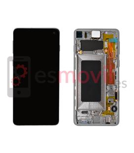 Samsung Galaxy S10 G973f Display replacement with frame white GH82-18850B Service Pack