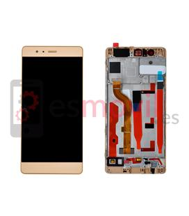huawei-p9-lcd-tactil-marco-oro-compatible