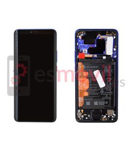 Huawei Mate 20 Pro Display replacement with frame twilight ( incluye battery ) Service Pack ( 02352GGC )
