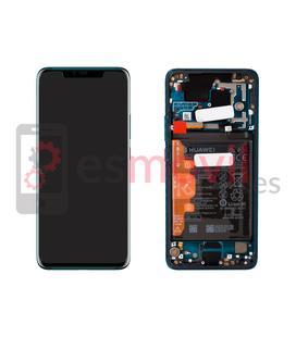 Huawei Mate 20 Pro Écran + contour vert original ( Batterie incluse ) Service Pack ( 02352GGB )