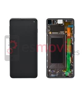 Samsung Galaxy S10 G973f Lcd + tactil + marco negra GH82-18850A Service Pack
