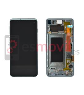 Samsung Galaxy S10 G973f Display replacement with frame green GH82-18850E Service Pack