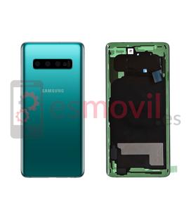 Samsung Galaxy S10 G973f tapa trasera color verde GH82-18378E Service Pack