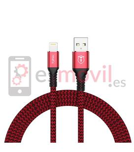 T-Phox Jagger Cable USB a Lightning 2.4A (1 m) rojo