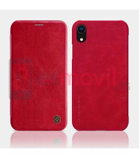nillkin-qin-series-funda-de-cuero-iphone-xr-rojo