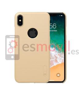 nillkin-funda-super-frosted-shield-matte-iphone-xs-max-recorte-logo-oro
