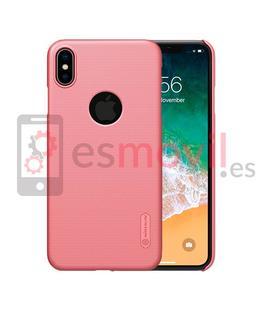 nillkin-funda-super-frosted-shield-matte-iphone-xs-max-recorte-logo-rosa
