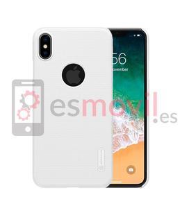 nillkin-funda-super-frosted-shield-matte-iphone-xs-max-recorte-logo-blanco