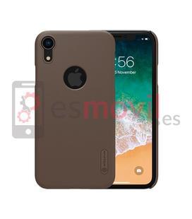 nillkin-funda-super-frosted-shield-matte-iphone-xr-recorte-logo-marron