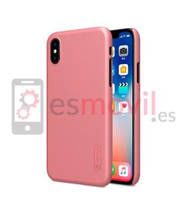 nillkin-funda-super-frosted-shield-matte-iphone-xs-iphone-x-rosa