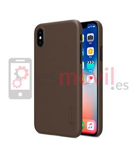 nillkin-funda-super-frosted-shield-matte-iphone-xs-iphone-x-marron