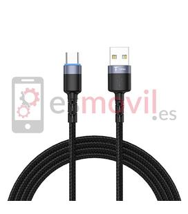 T-Phox Galaxy Cable USB a Micro USB 3A (1.2 m) gris