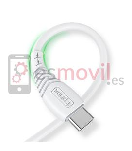 t-phox-nature-cable-usb-a-tipo-c-3a-12-m-blanco