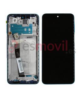 Xiaomi Redmi Note 9S Lcd + tactil + marco azul Service Pack (Aurora blue)