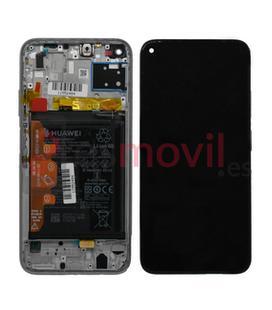 Huawei P40 Lite Lcd + touch + frame rosa Service Pack (inclui bateria) 02353KFV