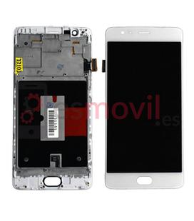 oneplus-3t-a3010-pantalla-lcd-tactil-marco-blanco-compatible