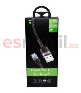 t-phox-galaxy-cable-usb-a-tipo-c-3a-2-m-gris