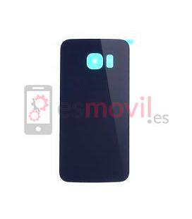 Samsung Galaxy S6 G920f Tapa trasera azul oscura / negra