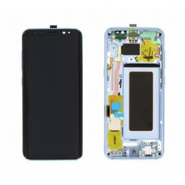 Samsung Galaxy S8 Plus G955f Lcd + tactil + marco azul claro GH97-20470D