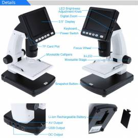 Microscope with screen TFT 3.5""