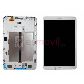 "Samsung Galaxy Tab A 10.1"" Wifi 2016 T580 / T585 Lcd + tactil + marco blanco ( GH97-19022B )"